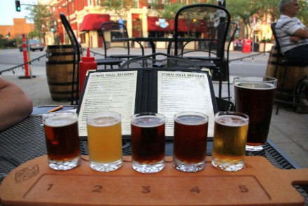 Town Hall Brewery Flight and Menu