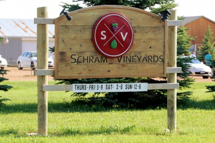 Schram Vineyards Winery & Brewery Sign