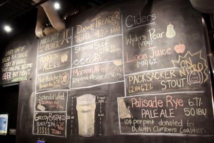 Canal Park Brewing Company Blackboard