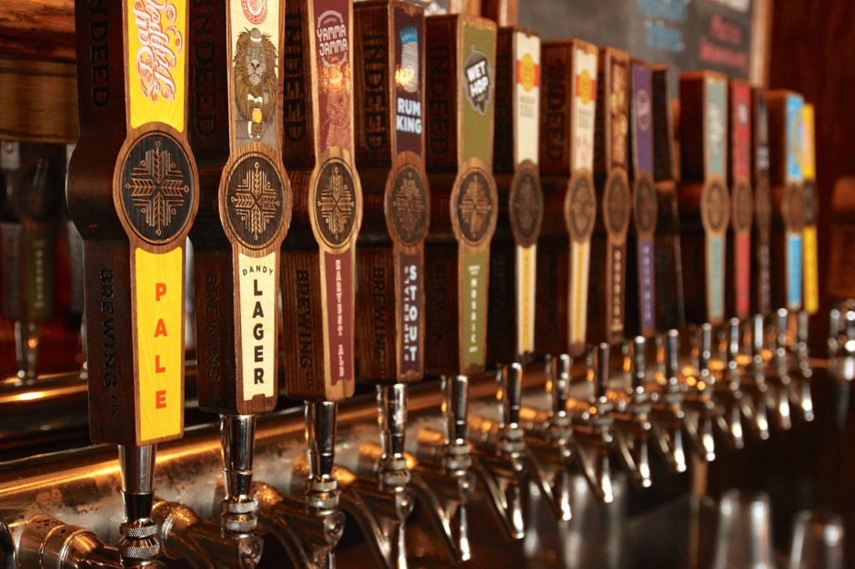 Indeed Brewing Company Taps