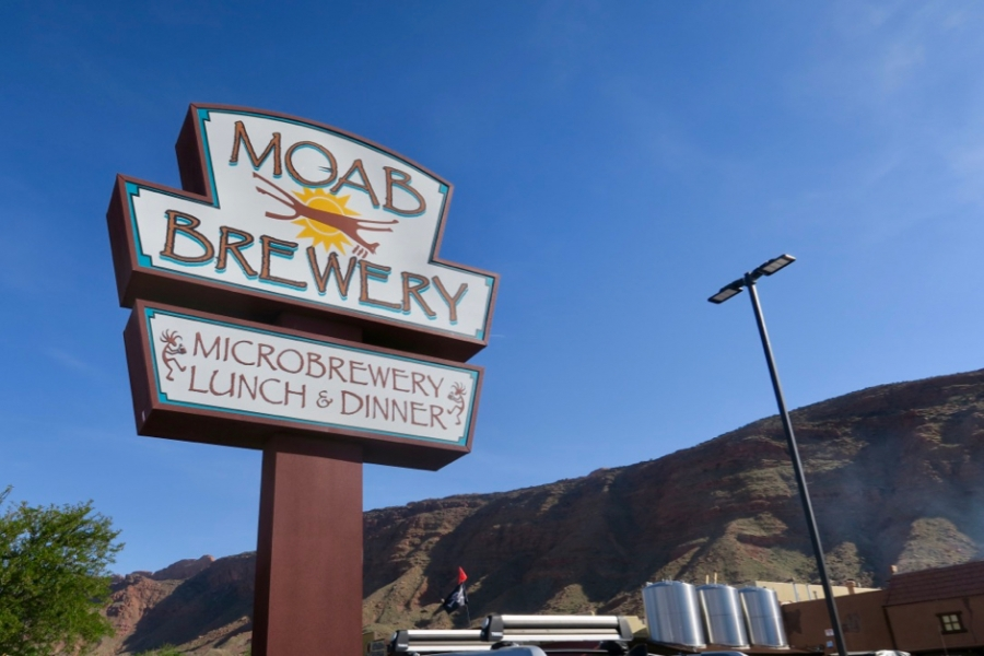 Moab Brewery Sign