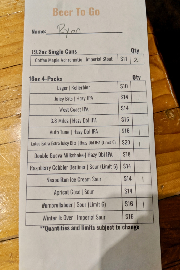 WeldWerks Beer List