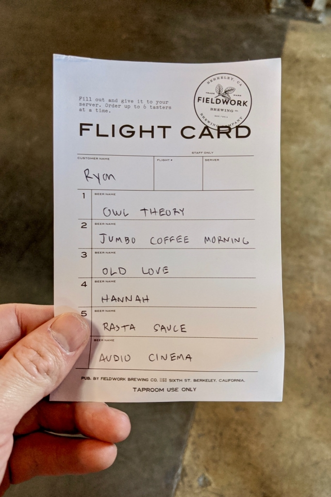 Fieldwork Flight Card